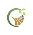 green leaf landscape farm logo vector image vector image