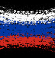 grunge blots russia flag background vector image vector image