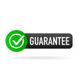guarantee green rubber label on white background