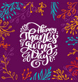 happy thanksgiving day calligraphy text with frame vector image vector image