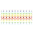 hierarchy shape halftone spectral grid vector image vector image