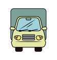 isolated merchandise truck vector image vector image