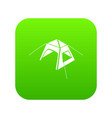 kid tent icon green vector image