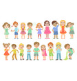 kids with maladies set vector image vector image