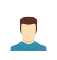 male avatar icon flat vector image vector image