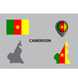 Map of Cameroon and symbol vector image vector image