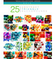 mega collection of 24 low poly triangle abstract vector image vector image