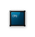 microchip processor on white background vector image vector image