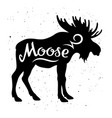 moose silhouette 002 vector image