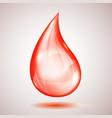 one big red drop vector image vector image