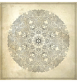 Ornamental circle floral pattern vector image