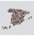 people map country Spain vector image vector image