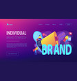 personal brand concept landing page vector image vector image