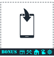 Phone Download Notification icon flat vector image