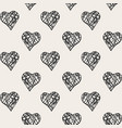 print with hearts vector image