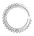 round decoration emblem vector image