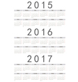Russian 2015 2016 2017 year calendars vector image