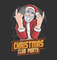 santa claus christmas night club dance dj party ar vector image