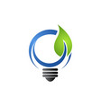 save energy eco concept icon for green ecology vector image vector image