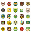 scout badge emblem stamp icons set flat style vector image vector image