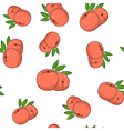 Seamless Pattern of Peach vector image