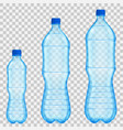 set of transparent plastic bottles vector image vector image