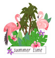 summer time background banner vector image vector image