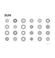 sun icons star sunny weather rays and other vector image vector image