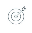 thin line target icon vector image vector image