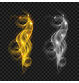 Translucent colored smokes vector image vector image