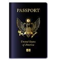 united states of america passport vector image