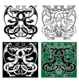 Vintage dragons celtic decorative ornament vector image vector image