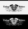 vintage motors vector image vector image