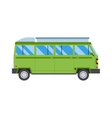 with green bus road travel vector image vector image