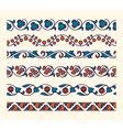 Decorative ornamental seamless borders vector image