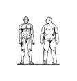 thick and thin man vector image