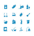 cleaning products and services silhouette vector image