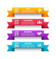 3d arrows stripes infographic ribbon vector image vector image
