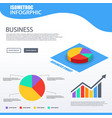 3d isometric pie chart 4 option design element vector image