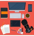 a workplace designer vector image vector image