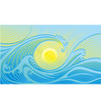abstract blue-yellow wave background vector image