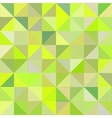 Abstract triangles green background vector image