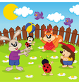 animals play ball vector image vector image