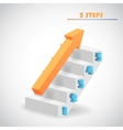 arrow and staircase vector image