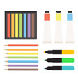 art tools collection markers color pencils vector image