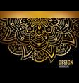black banner with gold beautiful mandala golden vector image vector image