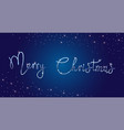 bright merry christmas brush lettering text silver vector image vector image