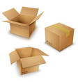 brown box pack set ill vector image