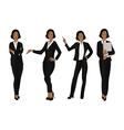 Business Woman Color Full Body Black vector image vector image