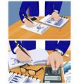 businessman activities set vector image vector image